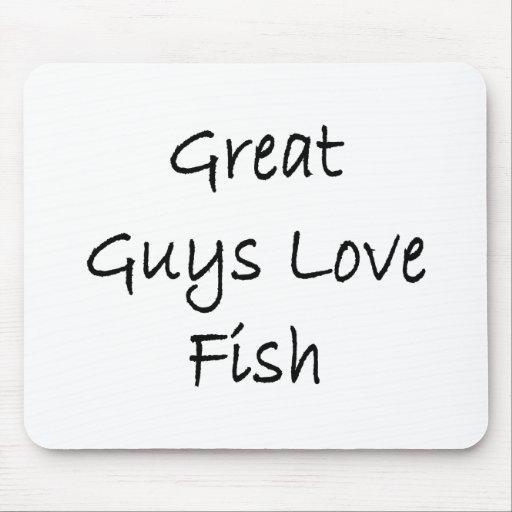 Grandes pescados del amor de los individuos tapetes de ratón