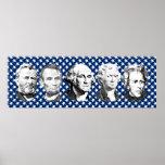 Grandes presidentes de los E.E.U.U. con el fondo d Poster