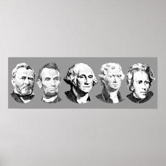 Grandes presidentes de los E E U U Posters