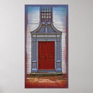 Grandes puertas #1 (lona superior) de Nueva Inglat Póster
