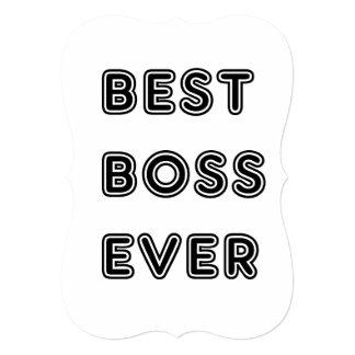 """¡Grandes regalos para el mejor jefe! Sorprenda a Invitación 5"""" X 7"""""""