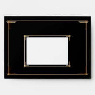 Grandes sobres del boda de Gatsby del art déco