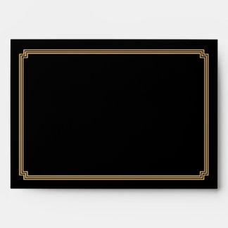 Grandes sobres negros del boda A7 de Gatsby del