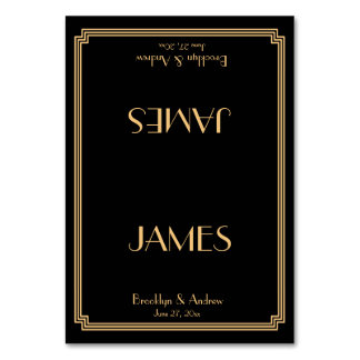 Grandes tarjetas del lugar del boda del negro del