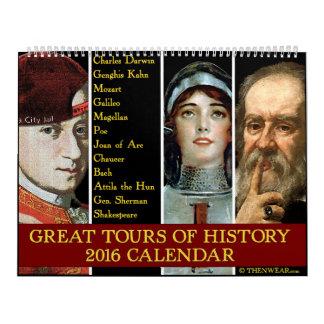 Grandes viajes del calendario de la historia 2016