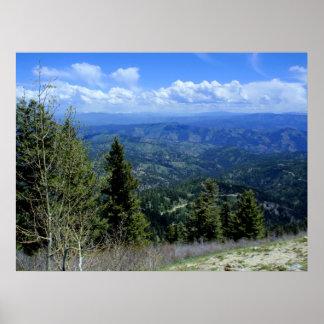 Grandeza de la montaña de Idaho Poster
