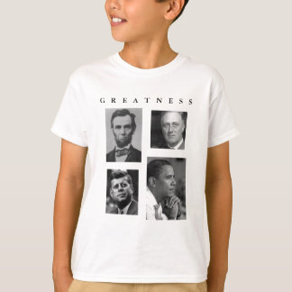 GRANDEZA Lincoln FDR JFK Obama - NIÑOS de Obama Playera