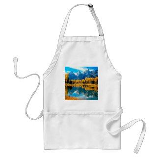 Grandeza Teton magnífico Wyoming del otoño Delantal