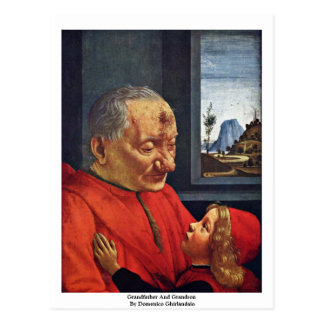 Grandfather And Grandson By Domenico Ghirlandaio Postcard