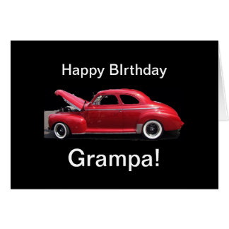 Grandfather Birthday Classic Car Greeting Card