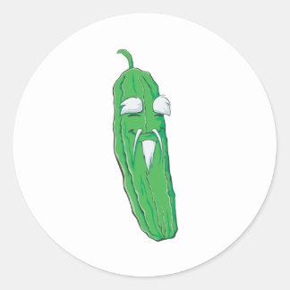 Grandfather Bitter Gourd Vegetable Classic Round Sticker