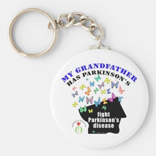 grandfather - butterflies parkinson awareness key chains