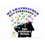 grandfather - butterflies parkinson awareness post card