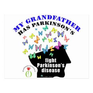 grandfather - butterflies parkinson awareness postcard