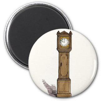 Grandfather Clock 2 Inch Round Magnet