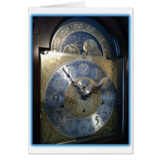 Grandfather Clock Face Card