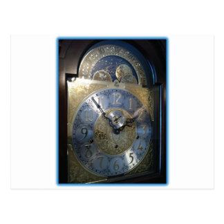 Grandfather Clock Face Postcard