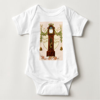 Grandfather Clock Holly Mistletoe Bell Baby Bodysuit