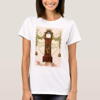 Grandfather Clock Holly Mistletoe Bell T-Shirt