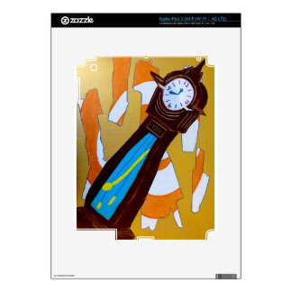 Grandfather clock painting decals for iPad 3