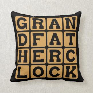 Grandfather Clock, Stately Timepiece Throw Pillows