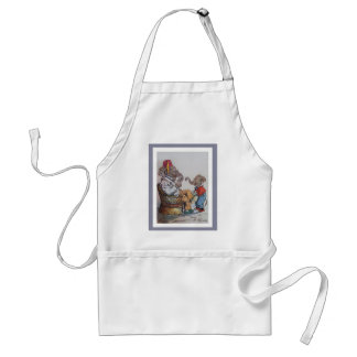Grandfather Elephant with Grandson Adult Apron
