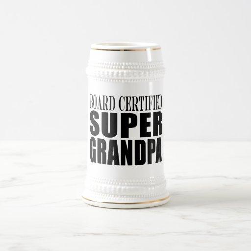 Grandfather Grandpas Board Certified Super Grandpa Mugs