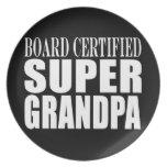 Grandfather Grandpas Board Certified Super Grandpa Plate