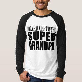 Grandfather Grandpas Board Certified Super Grandpa T-Shirt