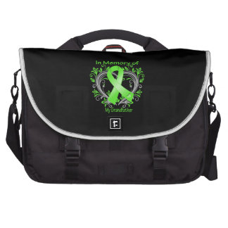 Grandfather - In Memory Lymphoma Heart Laptop Messenger Bag