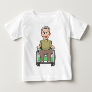Grandfather in Wheelchair Baby T-Shirt