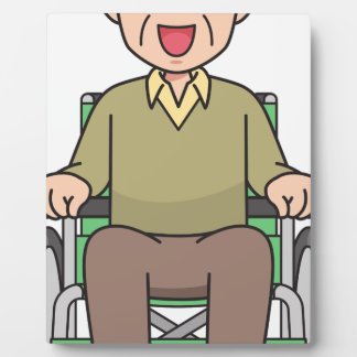 Grandfather in Wheelchair Plaque