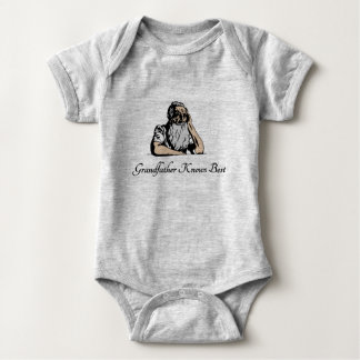 Grandfather Knows Best Baby Bodysuit