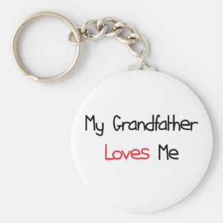 Grandfather Loves Me Key Chain