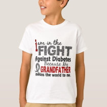 Grandfather Means World To Me Diabetes T-Shirt