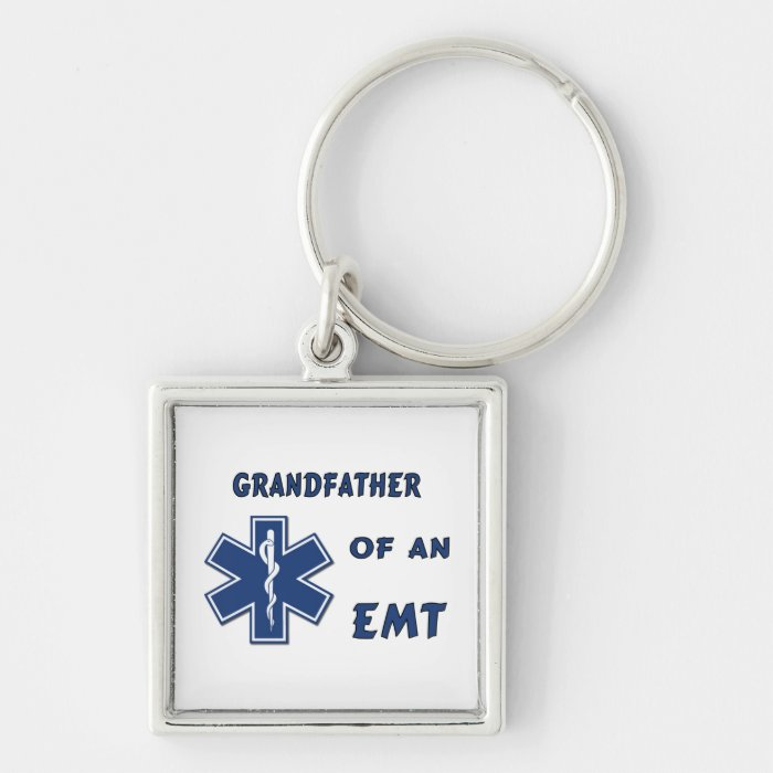 Grandfather of an EMT Keychain