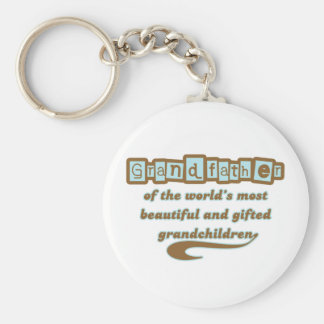 Grandfather of Gifted Grandchildren Key Chains