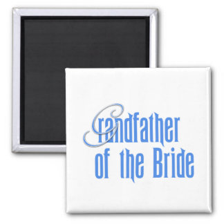 Grandfather of the Bride 2 Inch Square Magnet