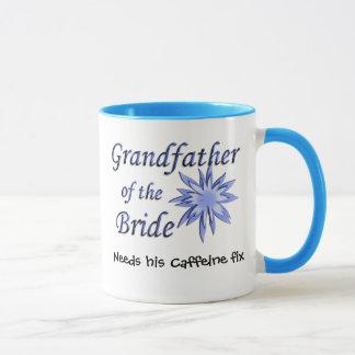Grandfather of the Bride Blue Mug