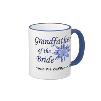 Grandfather of the Bride Blue Ringer Mug