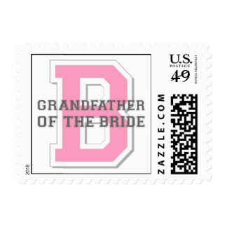 Grandfather of the Bride Cheer Postage Stamp