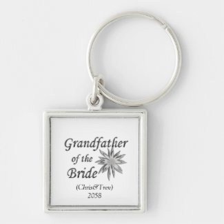Grandfather of the Bride Personalized Keychain