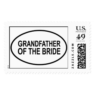Grandfather of the Bride Wedding Oval Stamps