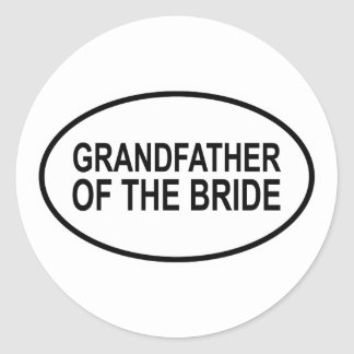 Grandfather of the Bride Wedding Oval Classic Round Sticker