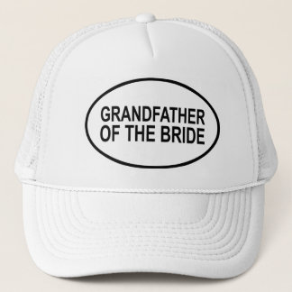 Grandfather of the Bride Wedding Oval Trucker Hat