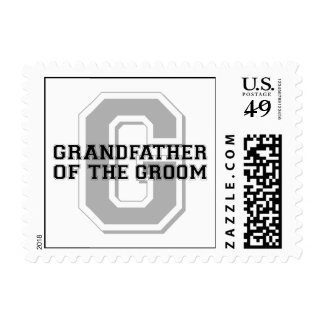Grandfather of the Groom Cheer Stamps