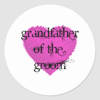 Grandfather of the Groom Classic Round Sticker