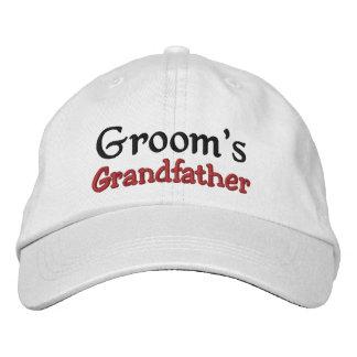 GRANDFATHER of the GROOM Custom Name WHITE A07C7E Embroidered Baseball Cap