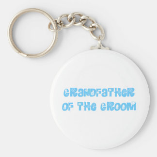 Grandfather of the Groom Keychain