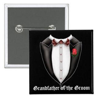 Grandfather Of The Groom Tuxedo Button